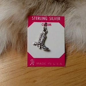 Sterling silver cowboy boots charm
